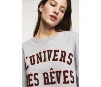 Sweatshirt mit Stickerei light grey melange
