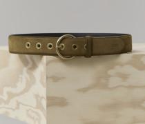 Veloursledergürtel mit Metallösen burlywood