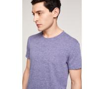 T-Shirt aus Melange Jersey indigo blue
