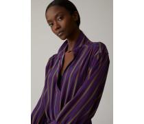 Hemdblusenkleid aus Viskose & Seide amethyst
