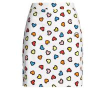 Printed Stretch-cotton Gabardine Mini Skirt White
