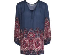 Riva printed silk-chiffon blouse