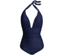 Ruched Halterneck Swimsuit Indigo