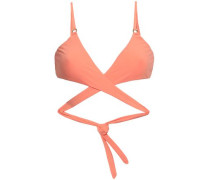 Indonesia Cutout Triangle Bikini Top Peach Size 16
