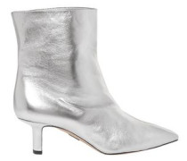 Mangold Metallic Leather Ankle Boots Silver