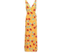 Grace Floral-print Voile Maxi Wrap Dress Marigold