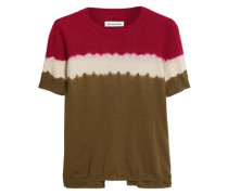 Tie-dyed cotton and cashmere-blend T-shirt