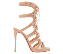 Amazoubille 120 Studded Leather Sandals Neutral