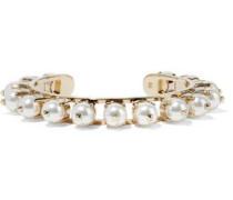 Gold-tone faux pearl bracelet