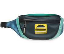 Color-block Satin Belt Bag Mint Size --