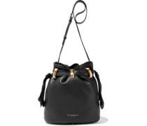Virginia Pebbled-leather Bucket Bag Black Size --