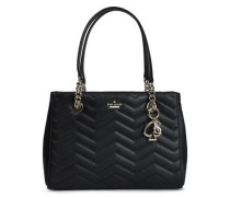 Reese Park Quilted Leather Tote Black Size --