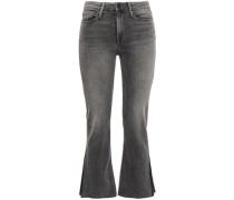 Faded High-rise Kick-flare Jeans Dark Gray