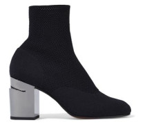 Keane Stretch-knit Sock Boots Black