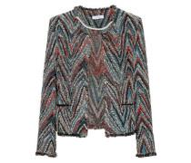 Frayed cotton-blend jacquard-tweed jacket