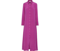 Hero Silk-satin Nightdress Magenta Size 1