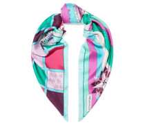 Woman Printed Silk-twill Scarf Green