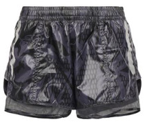 Coated Mesh And Shell Shorts Anthracite