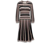 Jacquard-knit Dress Black