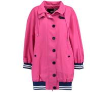 Oversized cotton-blend coat