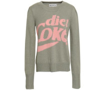 Intarsia-knit Sweater Gray