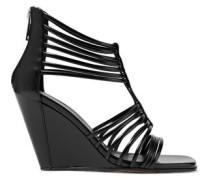 Mignon leather wedge sandals