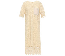 Ellis Guipure Lace Midi Dress Pastel Yellow