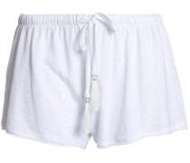 Slub cotton-jersey pajama shorts