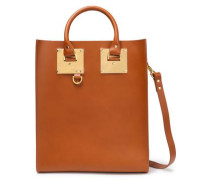 Albion Mini Leather Tote Camel Size --