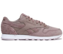 Classic Leather And Suede Sneakers Taupe