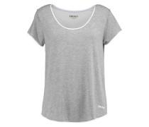 Two-tone stretch-modal top