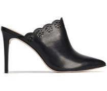 Graysen laser-cut leather mules