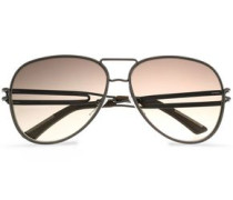 Aviator-style gunmental-tone sunglasses
