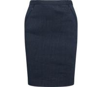 Pinstriped linen-blend twill mini skirt