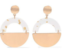 Gold-plated Resin Earrings Gold Size --