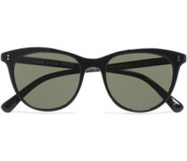 Cat-eye Tortoiseshell Acetate Sunglasses Black Size --
