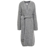 Mélange Knitted Cardigan Gray  /M