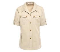 Woman Cotton-gabardine Shirt Neutral