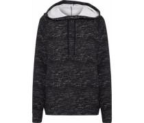 Mélange jersey hoodie