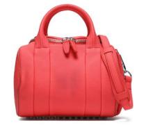 Textured-leather Shoulder Bag Coral Size --