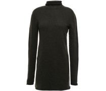 Woman Mélange Cashmere Turtleneck Sweater Forest Green