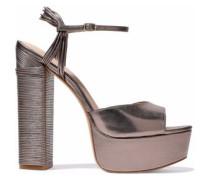 Willow metallic leather platform sandals