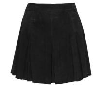 Lee pleated suede mini skirt