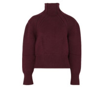 Wool-blend Turtleneck Sweater Burgundy