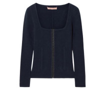 Kennedy Wool And Cashmere-blend Sweater Navy