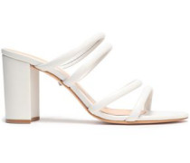 Suede Mules White