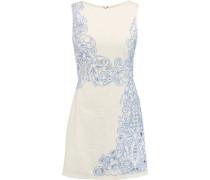 Malin cutout embroidered cotton mini dress