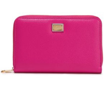 Textured-leather Wallet Bright Pink Size --