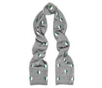 Jacquard-knit Wool And Cashmere-blend Scarf Gray Size --