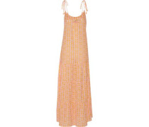 Brielle embellished printed cotton-blend gauze maxi dress